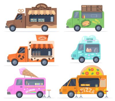 Street food trucks set