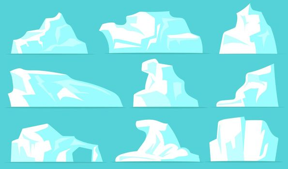Various icebergs set