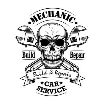 Car mechanic vector illustration