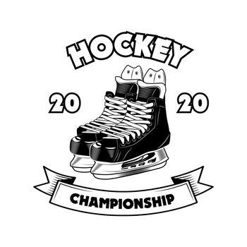 Hockey championship symbol vector illustration