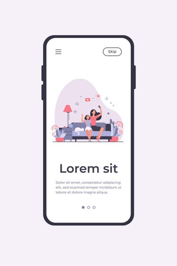 Mom and daughter leisure concept