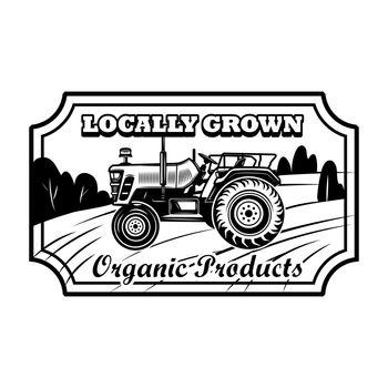 Organic product badge vector illustration