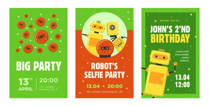 Party invitation cards set
