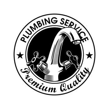 Plumbing service stamp vector illustration