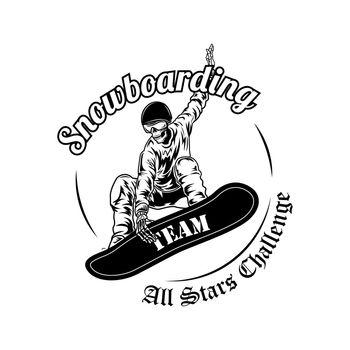Snowboarder symbol vector illustration