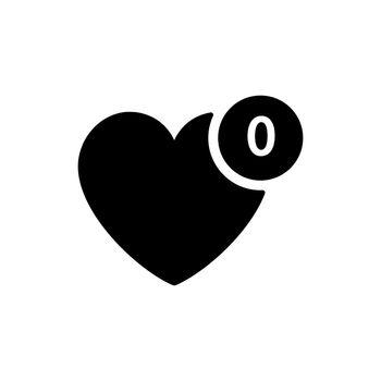 Favorites vector glyph icon. E-commerce sign