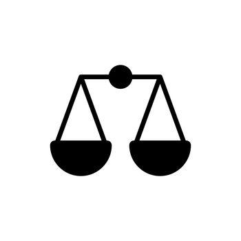 Scales vector glyph icon. E-commerce sign