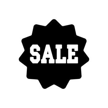 Sale tag glyph icon. E-commerce sign