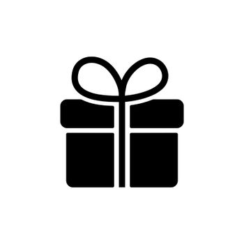 Gift vector glyph icon. E-commerce sign