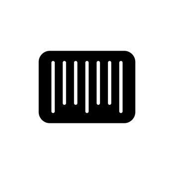 Barcode vector glyph icon. E-commerce sign