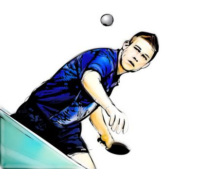 ping pong player illustration