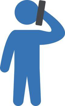 man phone talk