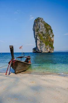 Koh Poda Island Thailand, the beach, Koh Poda Thailand, beautiful tropical beach of Koh Poda, Poda Island in Krabi province of Thailand South East Asian
