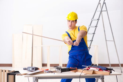 Floor repairman disappointed with his work
