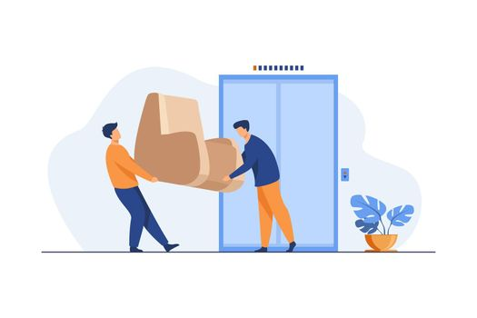 Loaders carrying furniture during moving