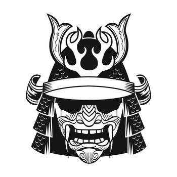 Samurai in black mask