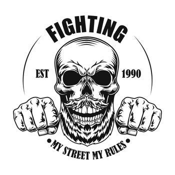 Skull of street fighter vector illustration