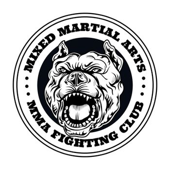 Fight club emblem with angry dog