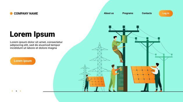 Solar power plant maintenance