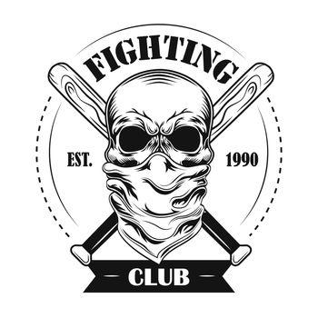 Fighting club member vector illustration