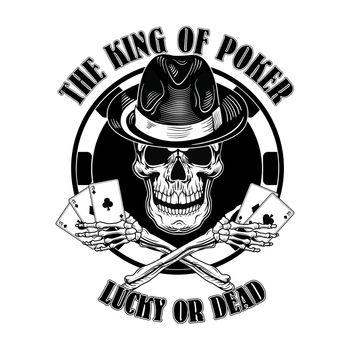 Gangster casino skull logo