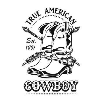 True American cowboy vector illustration