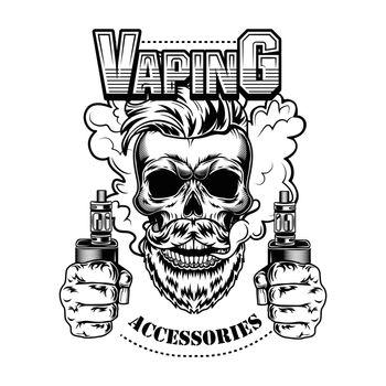 Vaping accessories vector illustration