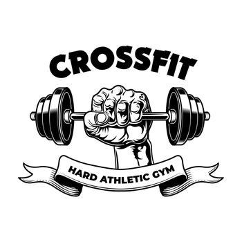 Hard athletic fitness club badge