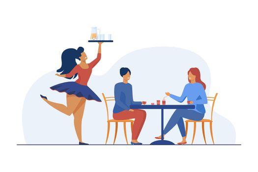 Women having rest at restaurant
