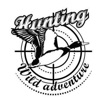 Hunting adventure vector illustration