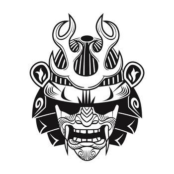 Japanese samurai with black mask