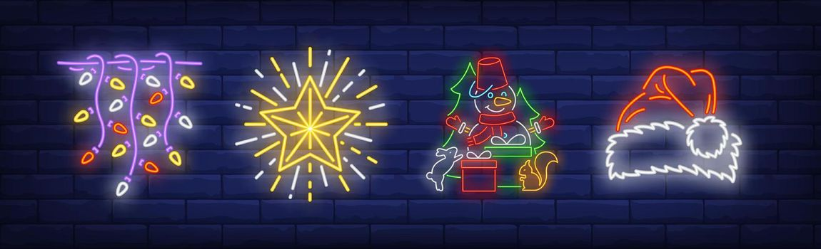 Xmas decoration neon sign collection
