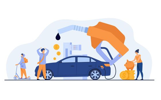 High price for car fuel concept