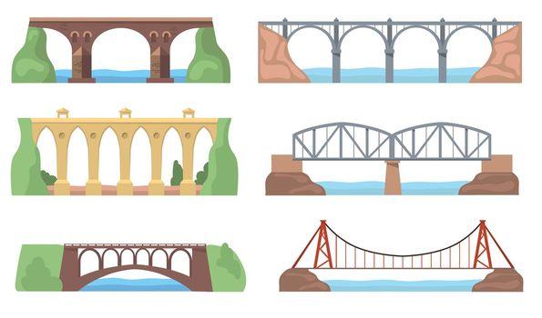 Scenic views with bridges set