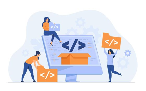 Tiny developers programming website for internet platform