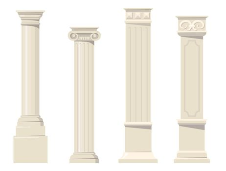 Vintage classic carved architectural pillars