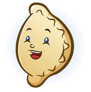 Happy Smiling Pierogi Cartoon Character