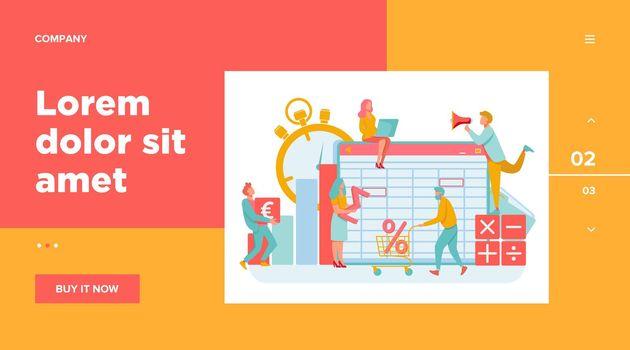 Accounting app vector illustration