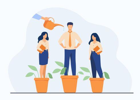 Employer growing business professionals metaphor