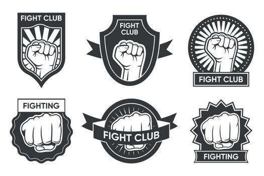 Fight club logo set