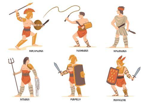 Gladiators characters set