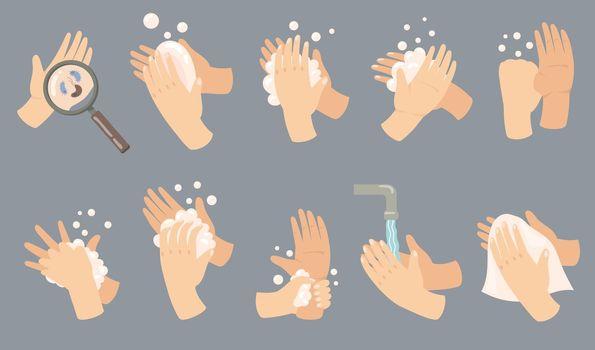 Hand hygiene guide set