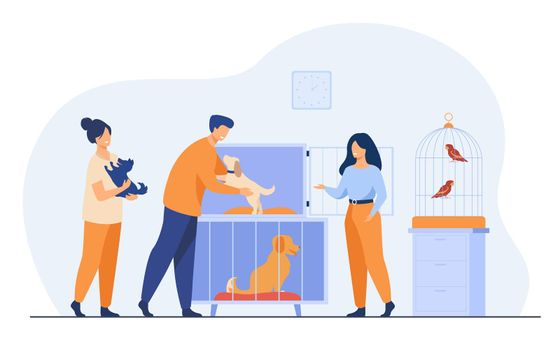 Pet store or animal shelter concept
