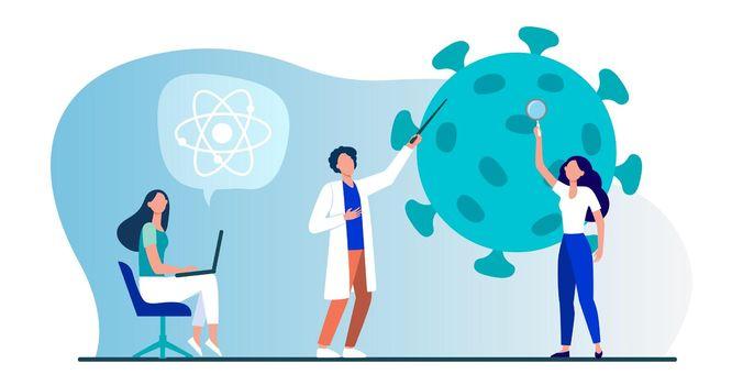 Scientists studying coronavirus