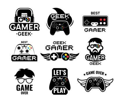 Video game logo set