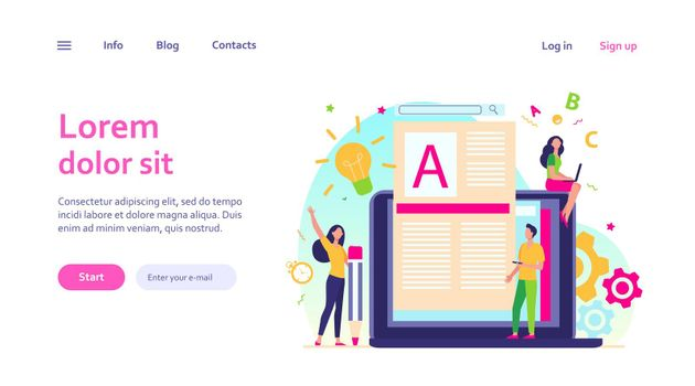 Content author or writer job concept