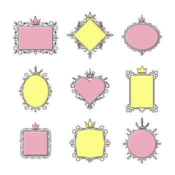 Princess mirror frames set