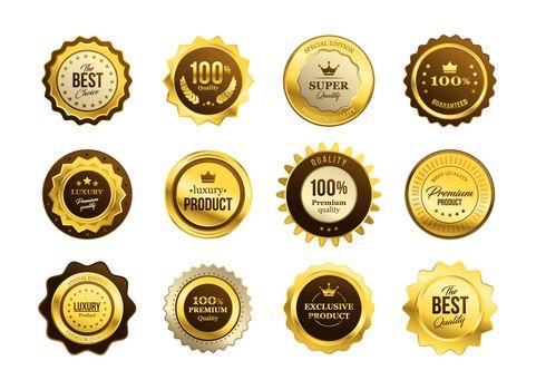 Premium quality medals set