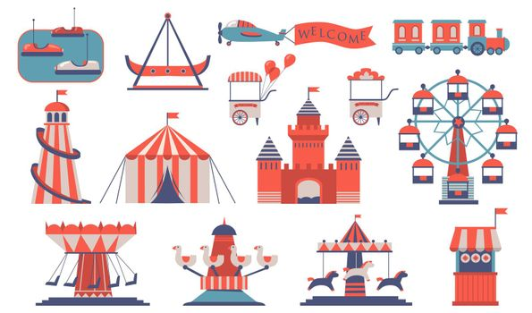 Various amusements and carousels