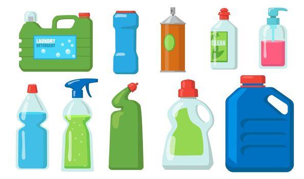 Bleach bottles set